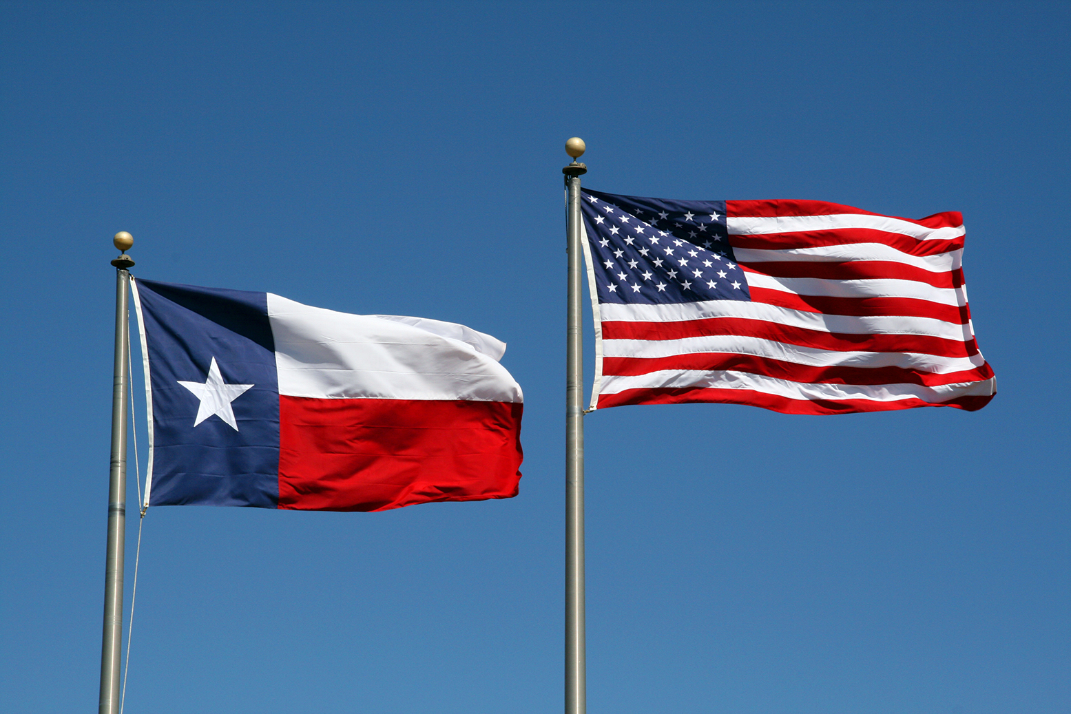 The Texas & United States Flag